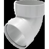 Отвод трубы двухмуфтовый 67° белый - водосток Rainway 130/100