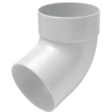 Отвод трубы одномуфтовый 87° белый - водосток Rainway 130/100