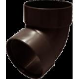 Отвод трубы двухмуфтовый 67° коричневый - водосток Rainway 130/100