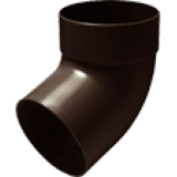Отвод трубы одномуфтовый 87° коричневый - водосток Rainway 130/100