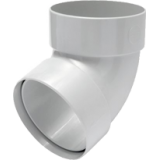 Отвод трубы двухмуфтовый 67° белый - водосток Rainway 90/75