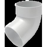 Отвод трубы одномуфтовый 67° белый - водосток Rainway 90/75