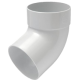 Single socket bend 67° for pipe white system Rainway 90/75