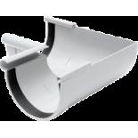 Gutter 90° internal angle white system Rainway 90/75