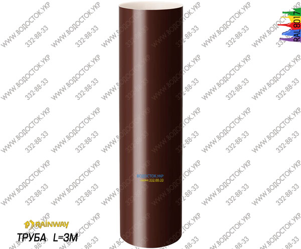 Труба коричневая RAL 8017 цена